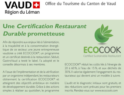 Une Certification Restaurant Durable prometteuse